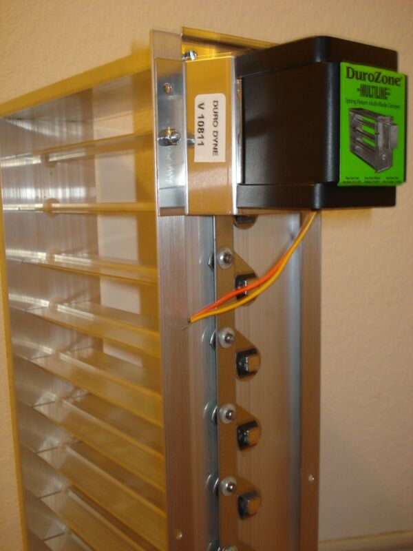 Durozone HVAC Motorized Zone Control Spring Return Small Rectangular Damper