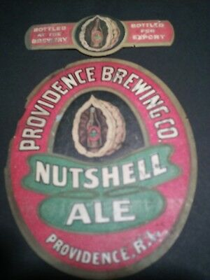 PRE PROHIBITION PROVIDENCE BREWING CO NUTSHELL ALE LABELS. NARRAGANSETT BEER...