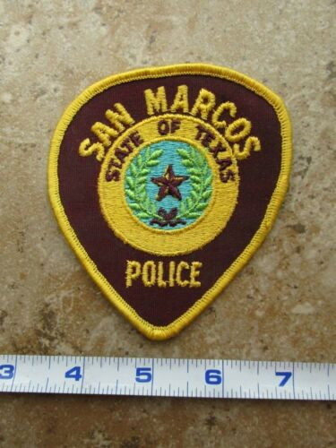 OBSOLETE Vintage State of Texas San Marcos Police Department Shoulder Patch