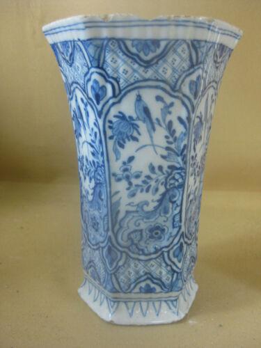 18th C. Dutch Delft  Vase Marked