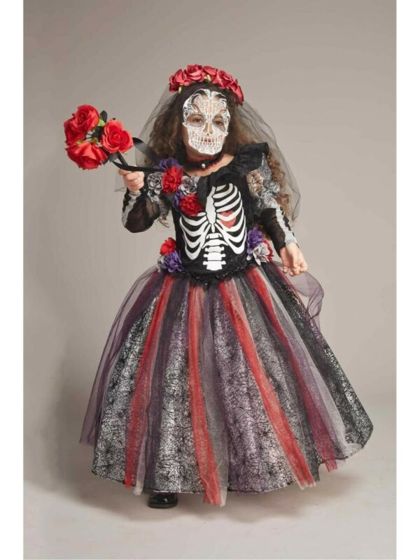 NEW Chasing Fireflies Day Of The Dead Catrina Costume Girls Size 10