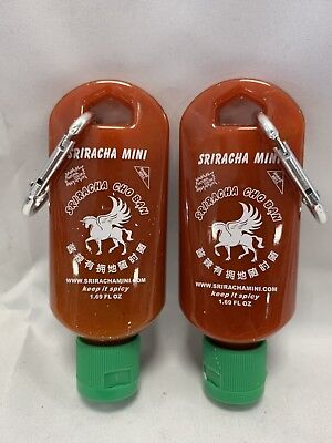 Sriracha Mini Hot Sauce Keychain Bottle 2-Pack (Shipped Empty) Christmas Gift