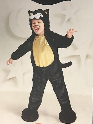 Black Cat Toddler Costume (Toddler BLACK CAT PLUSH JUMPSUIT - HALLOWEEN COSTUME 18-24 MONTHS Hyde and eek!)