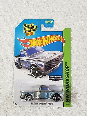 2014 HOT WHEELS HW WORKSHOP CUSTOM 69 CHEVY PICK UP ZAMAC