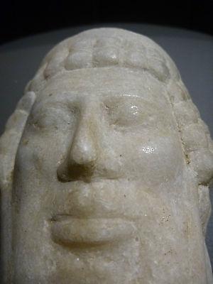 A ROMAN / GREEK   MARBLE HEAD OF HERMES ? PROPYLAIOS  ??  CIRCA 1ST CENTURY B.C.