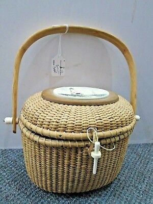 Vintage Barlow Nantucket Sailboat Light House Basket Purse for sale  Shipping to Canada