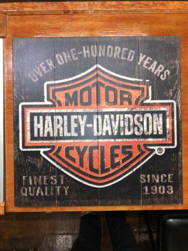 Harley Davidson Wood Sign OFFICIAL