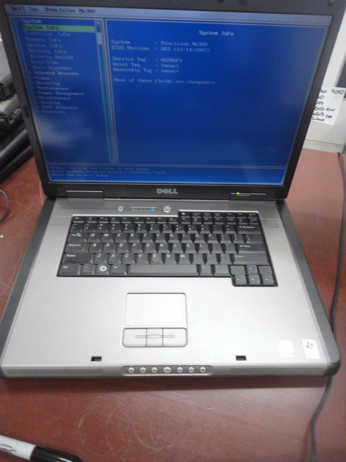"DELL Precision M6300 17"" Core2Duo 2GHz 4GB 160GB DVD/RW Wi-Fi LINUX Laptop  + AC"