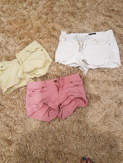 3 pairs girls shorts