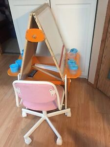 Easel and chair