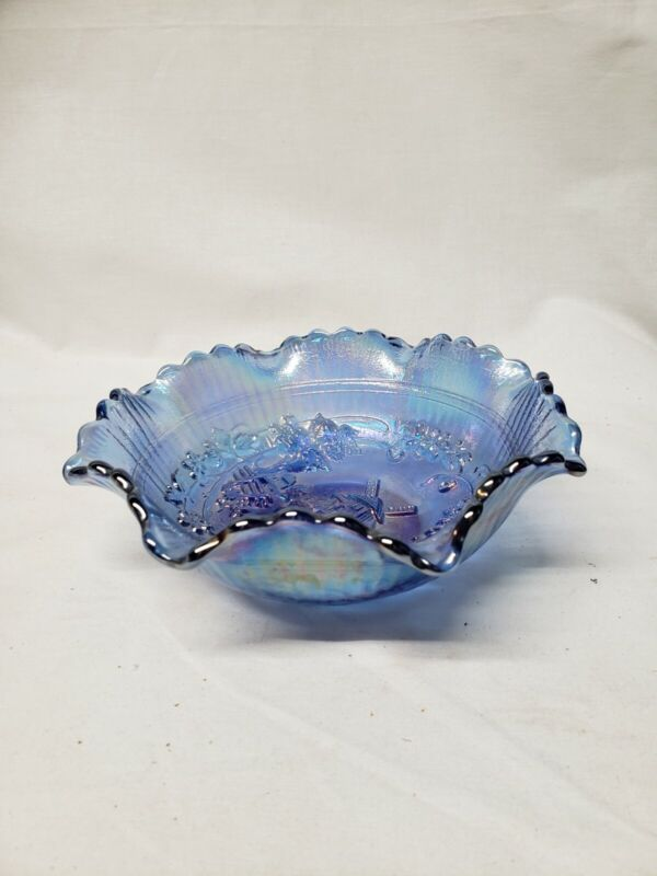 Carnival glass Blue
