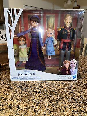Disney Frozen 2 Arendelle ROYAL FAMILY 4-Doll Exclusive Set NIB/Sealed Elsa Ana