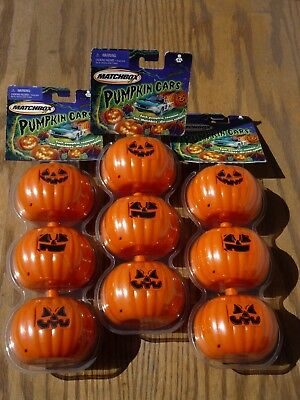 3 PKS of 2003 MATCHBOX HALLOWEEN PUMPKIN CARS 3 pks x 3 per pks =  9 cars  NOS](Cars Halloween Pumpkin)