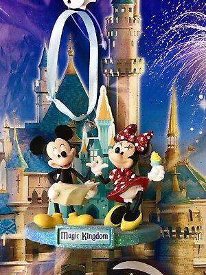 Disney World Magic Kingdom Mickey Minnie Figurine Ornament, NEW 2018