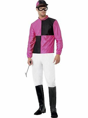 Jockey Outfit (Jockey Mens Adult Horse Fancy Dress Stag Party Costume)