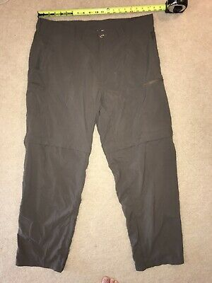 "EXOFFICIO ~ Men's Nylon Convertible Pants ~ 40x32 ~ Brown (10"" inseam on shorts)"