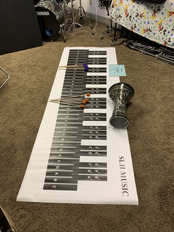 5.0 Octave Marimba Practice pad banner Mat