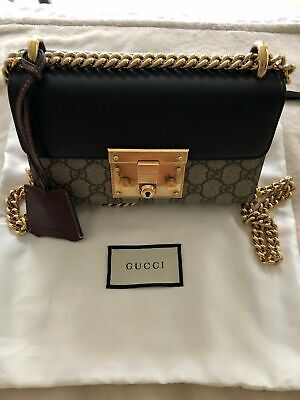 Gucci Small Padlock Bag GG Supreme Canvas Shoulder Bag