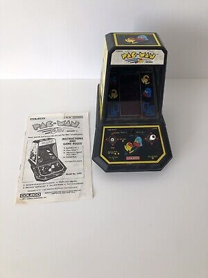 Vintage Coleco 1981 Pac Man mini table top video arcade machine works great