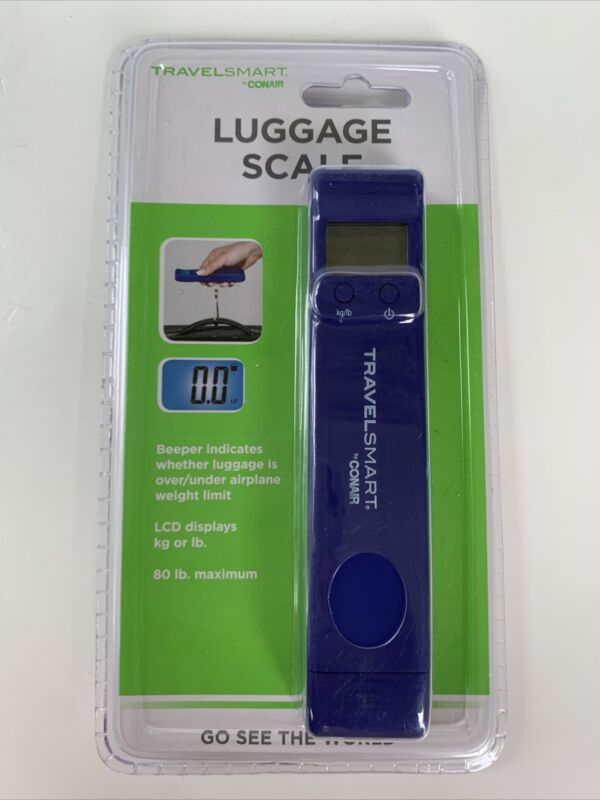 NEW Conair Travel Smart Compact Digital Luggage Scale Factory SEALED