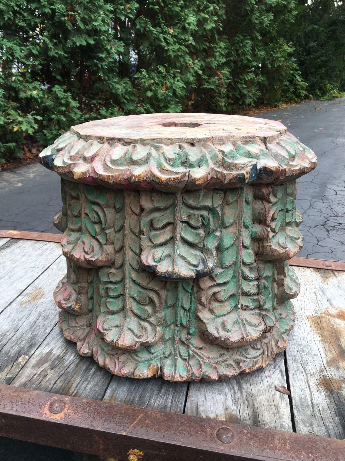 Antique Architectural Building Column Table Paris Industrial End Table 1800 s 1 - $1,100.00