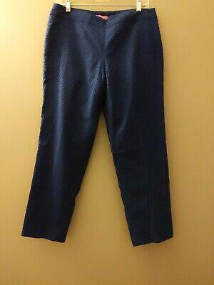 Isaac Mizrahi New York Women Blue Dress Pants 10