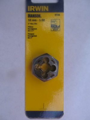 Irwin Hexagon Die Thread Cutting 10mm X 1.0 Mm 9738 New