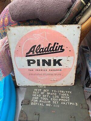 Vintage advertising sign Pink Paraffin genuine original item