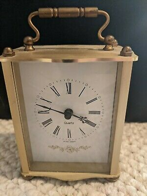 Vintage Hechinger Brass Mantel Clock Made In Germany-Needs Repair-Free Shipping