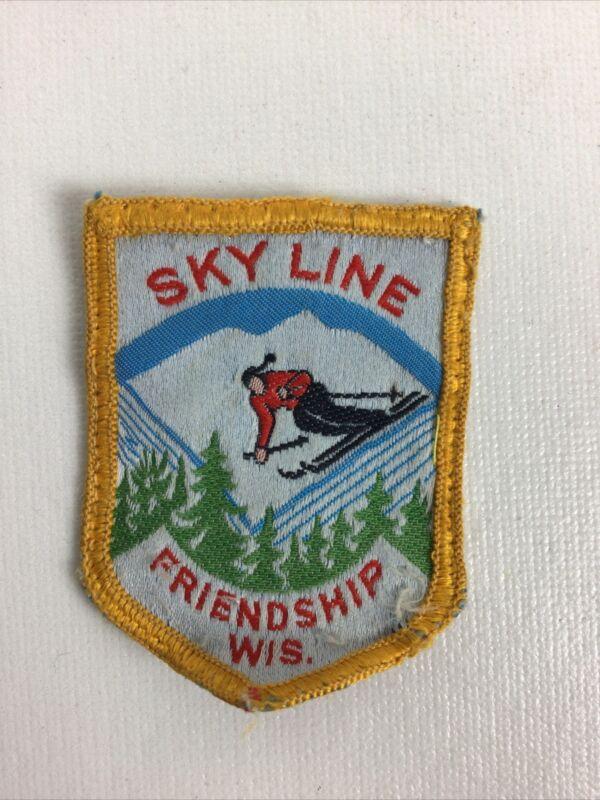 SKY LINE ~ Vintage Ski Patch ~ Lost Ski Area (1959-2003) ~ Friendship, WI