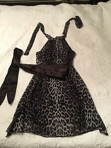 Animal print alter dress