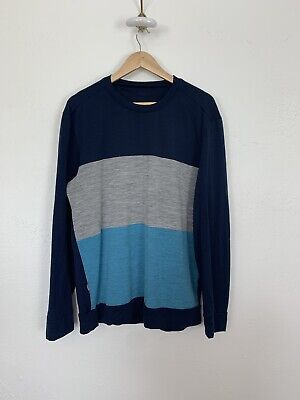 Icebreaker Shirt Pullover Escape Long Sleeve Large Shirt Merino Mens L