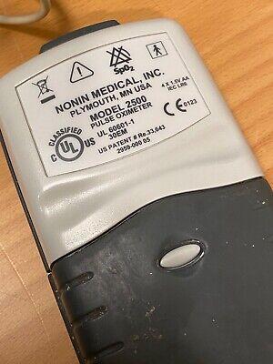 Nonin 2500 Palmsat Pulse Oximeter Used Adult Pediatric Attachments
