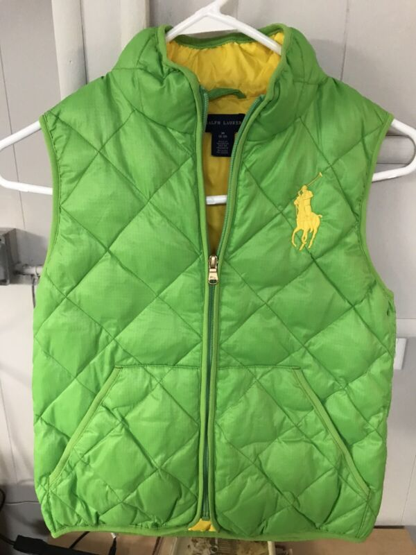 Ralph Lauren Polo Boys Medium 8-10 Green Vest
