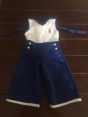 American Girl Doll kit sailor beach nautical blue white pajamas satin love Used for sale  Bristol