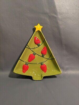 Hallmark Christmas Tree Plate Serving Dish Trinket Tray Holiday Home Decor