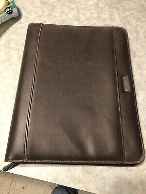 Day-runner Brown Leather Zipped Organizer Calendar Notes 203-0304