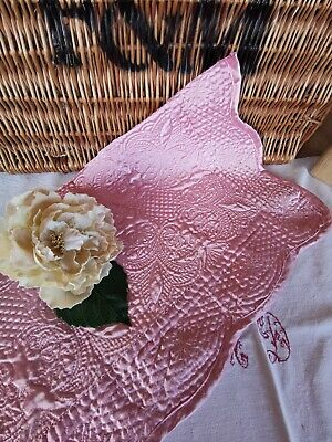 Vintage French Quilt Piece Pink Pk 8