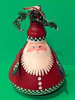 CHRISTMAS SANTA - Holiday Table Mantle Decor - Glass Indoor Spot Light Bulb  ()