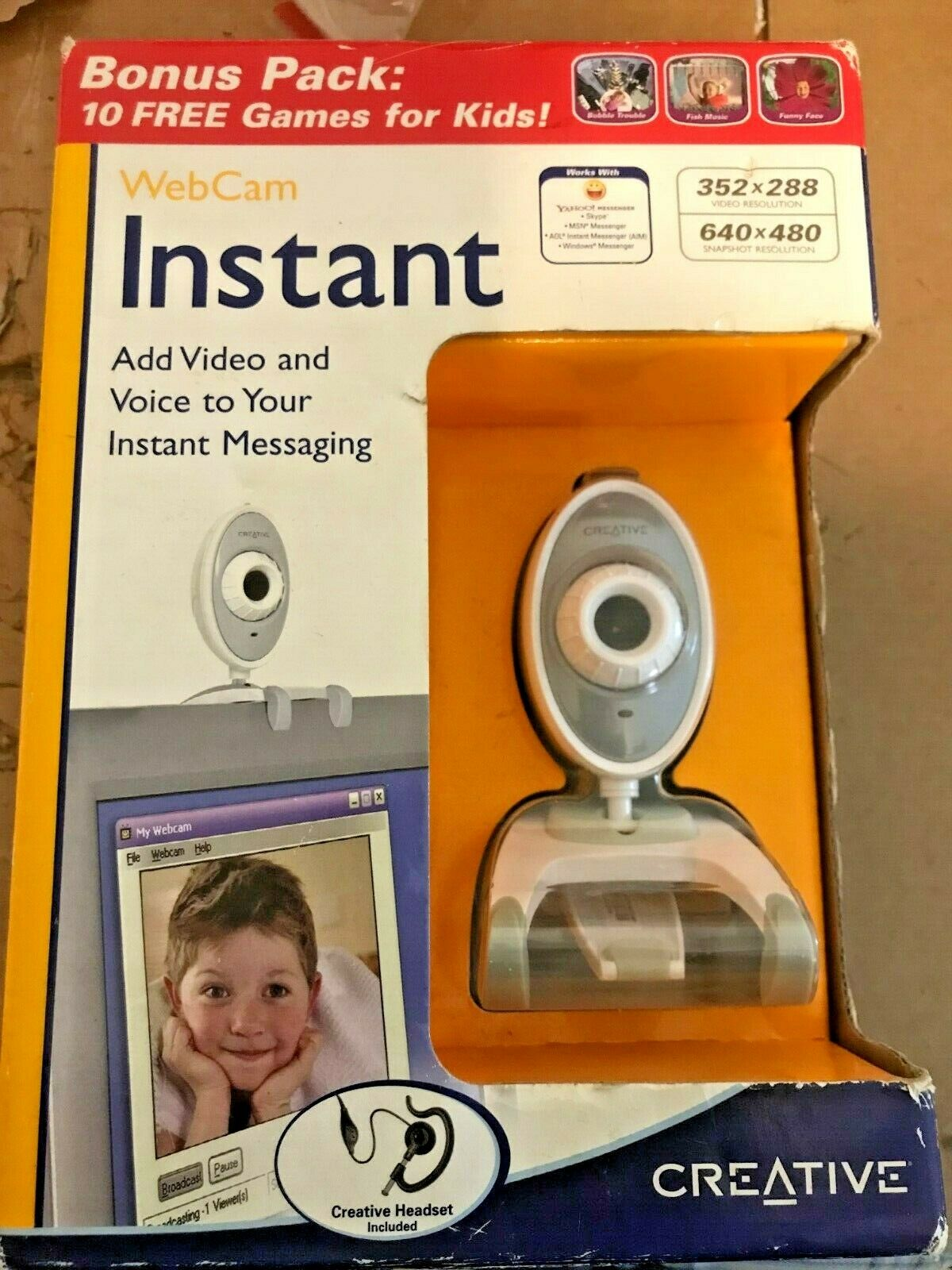 Creative Webcam Instant with Headset