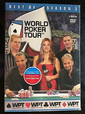 World Poker Tour - Best of Season 3 (DVD, 2005, 4-Disc Set) Brand New