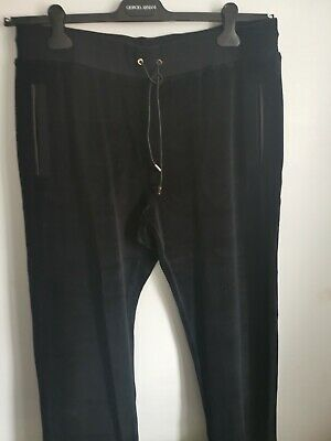 £430 Gianni versace Tracksuit style black long Bottoms 2xl