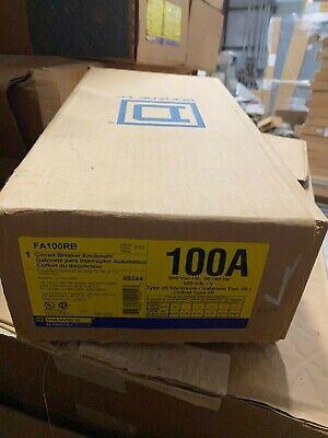 Square D 100 Amp Circuit Breaker Enclosure Nema 3r Steel Fa100rb