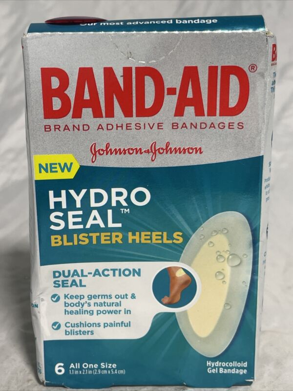 Band-Aid Brand Hydro Seal Adhesive Bandages for Heel Blisters, Waterproof...