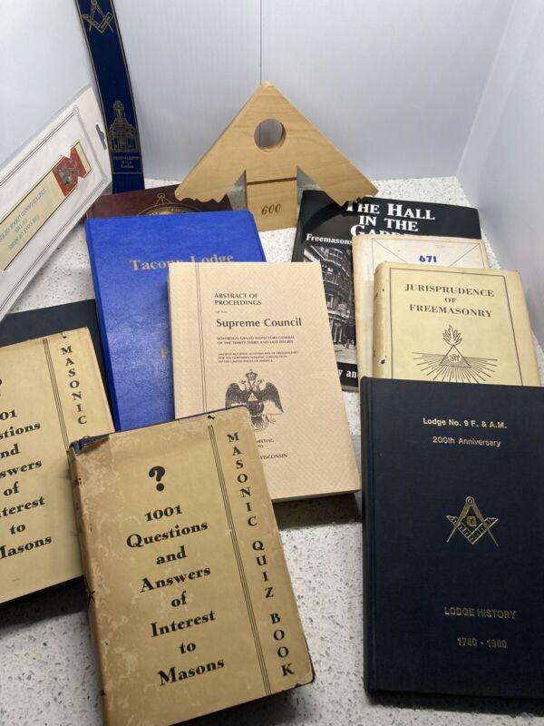Free Masons Lot -10 Books