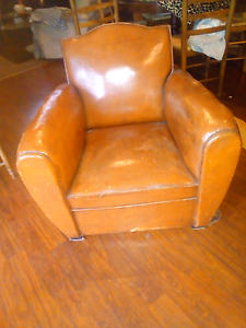 French antique club  leather arm chair Seaford Frankston Area Preview
