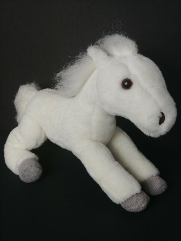 "Wells Fargo 2011 Snowflake Legendary Pony Plush Horse White Stuffed 16"""