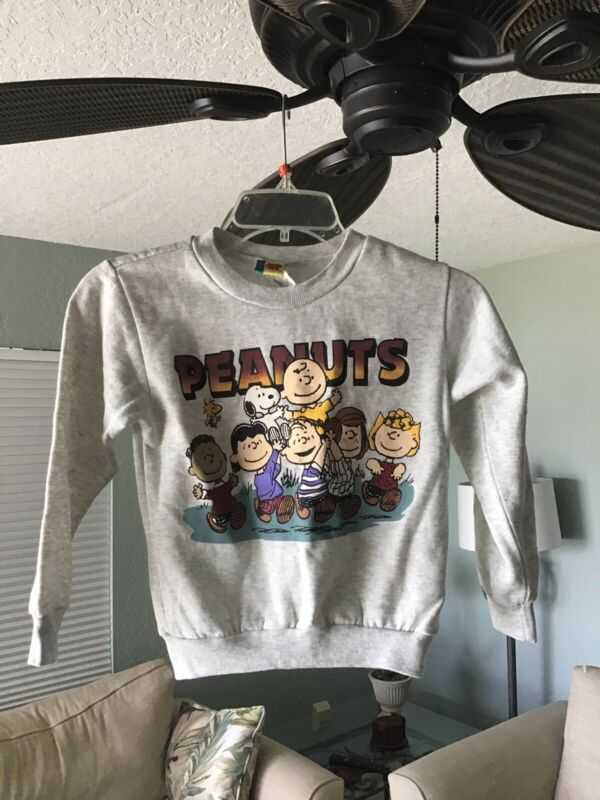 Vintage Peanuts Snoopy Pullover Sweater Kids Boys Sz M Youth Euc