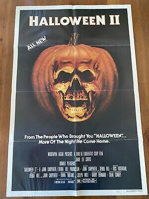 Halloween 2 Original Theatre Movie Poster With Lobby Card Rare