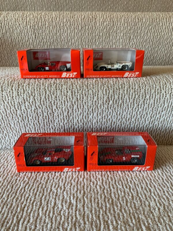 Best 1/43 scale diecast models Group Of 4 As Pictured. Ferrari and Lola.